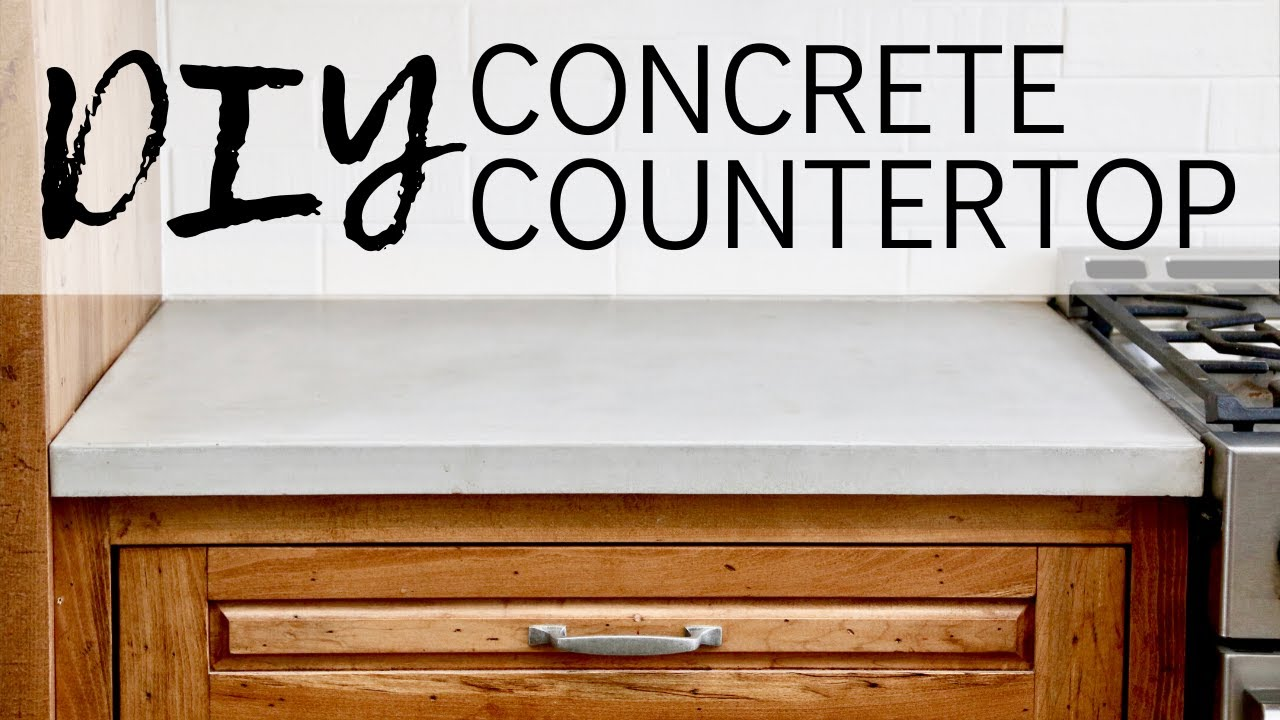 Diy Concrete Countertop 6 Steps Instructables