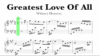 Whitney Houston - Greatest Love Of All Sheet Music