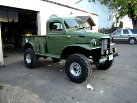 1942 dodge power wagon with a big block 496 chev - YouTube