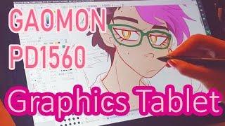 Graphic tablet GAOMON PD1560 [REVIEW/UNBOXING/SPEEDPAINT]