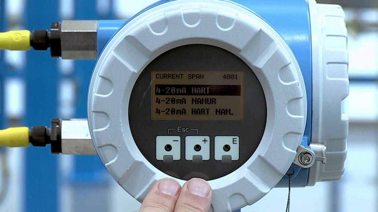 How to change 4 to 20 mA Current Output – Promag 53, Promass 83, Prosonic 93