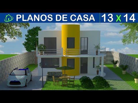 casa minimalista planos 2 pisos