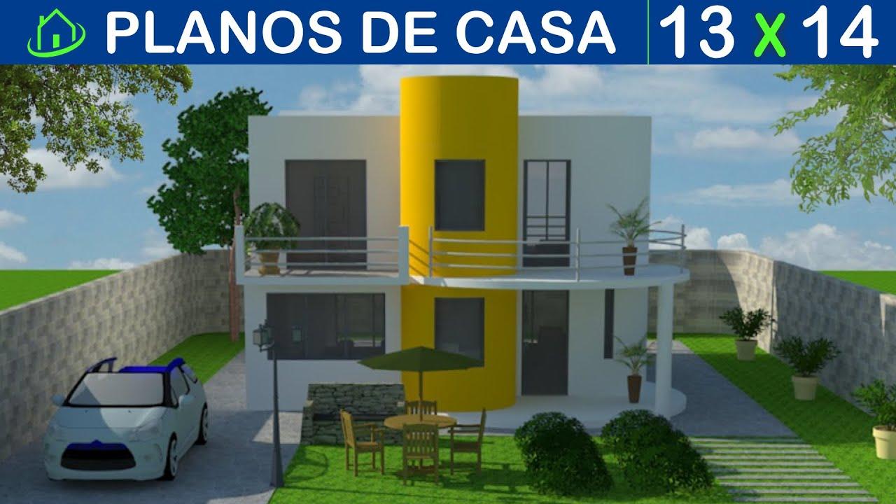 Dise os y planos de casas 2 pisos minimalista proyecto for Planos casa minimalista 3d