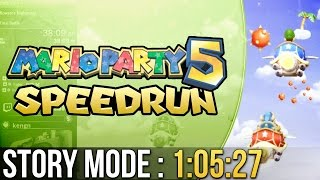 Mario Party 5 Story Mode (Easy) Speedrun in 1:05:27