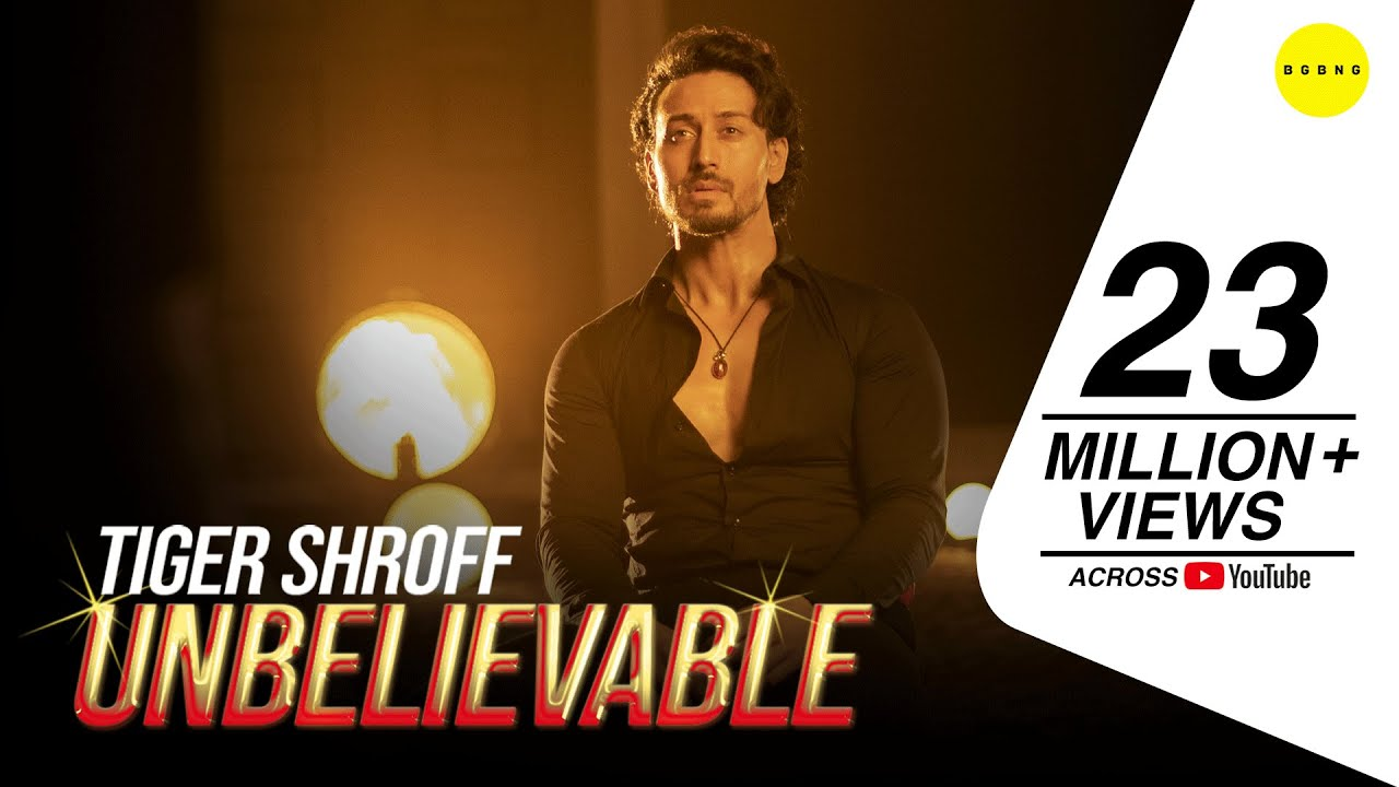 Tiger Shroff - Unbelievable (Official Music Video) | BGBNG Music | Latest Song