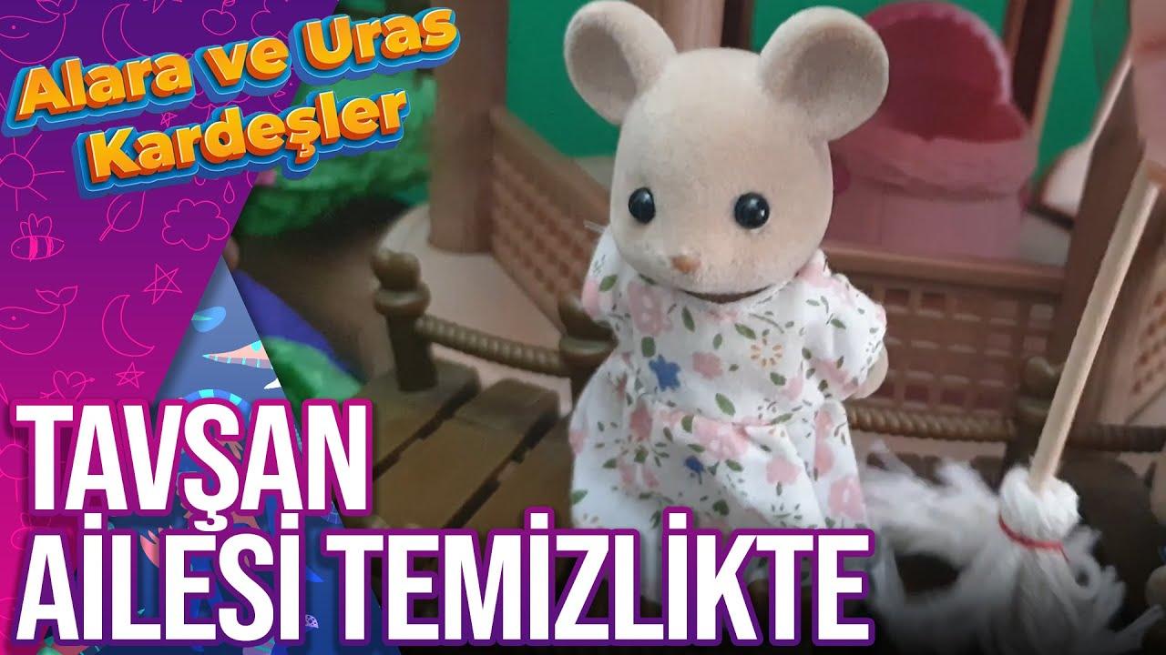 Tavşan Ailesi Evde Temizlikte | Sylvanian Families Oyuncakları | Alara ve Uras Kardeşler