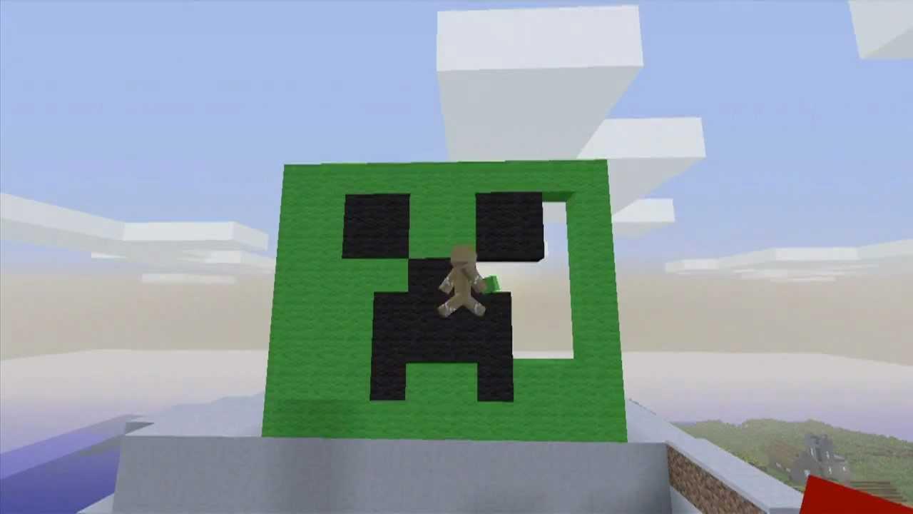 Minecraft Christmas Creeper Timelapse Pixel Art Hd