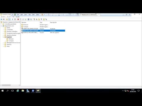 30 Windows 2016 - Gestión de Objetos del AD Power Shell - Crear Usuarios con dsadd