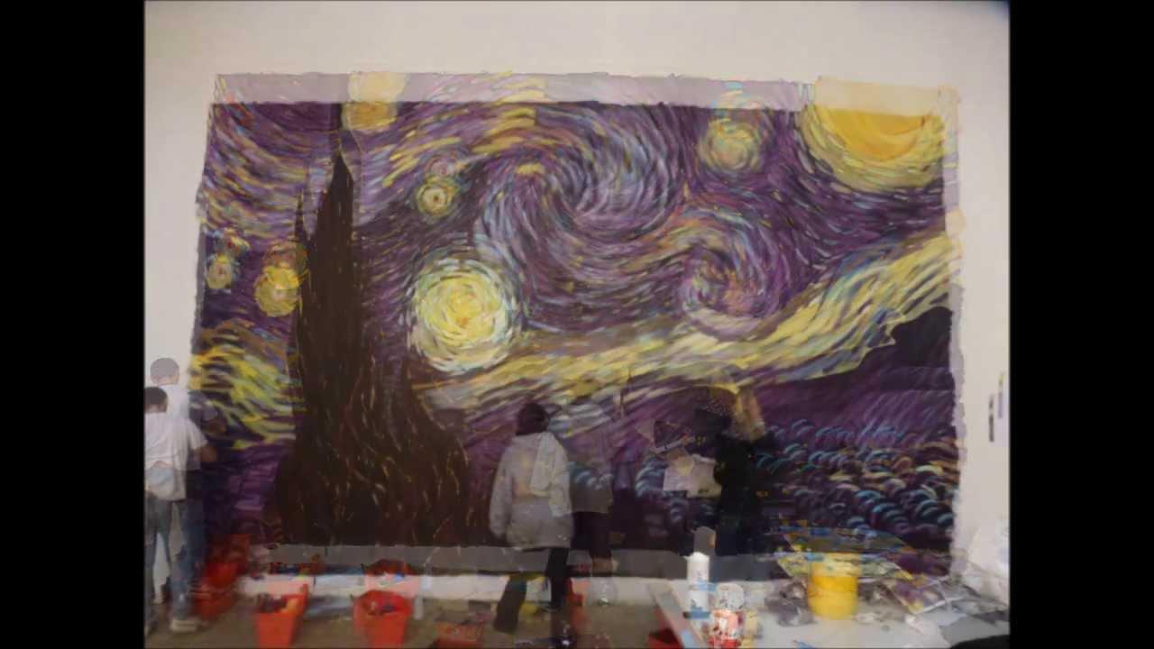 nike shox orange et gris - Painting_La Nuit Etoil��e de Van Gogh - YouTube