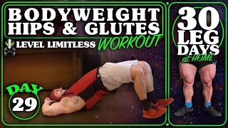 Bodyweight Home Hip & Glute Workout | 30 Days of Leg Day At Home Without Equipment Day 29
