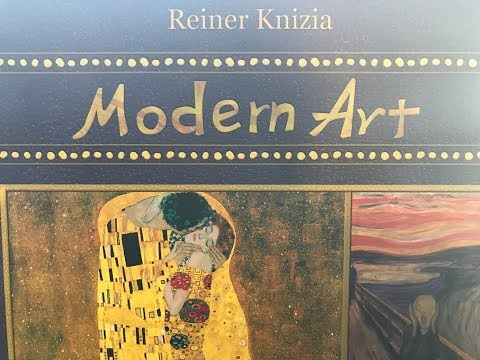 Opening Knizia's Modern Art, Korean Edition!