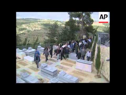 Ramallah unrest, Peres comment, Israeli funeral