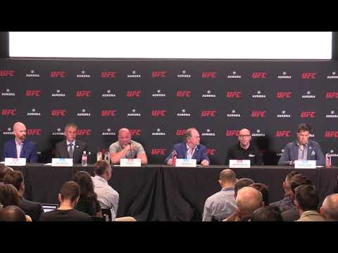 FULL VIDEO of the UFC Press Conference with Aurora Cannabis