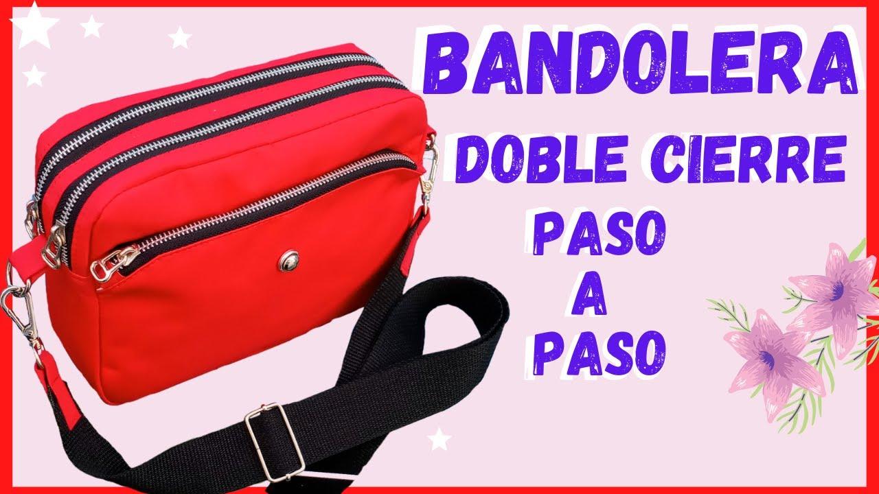 COMO HACER UNA BANDOLERA DOBLE CIERRE zipper PASO A PASO / CON MOLDES  / PARA DESCARGAR // bnieves