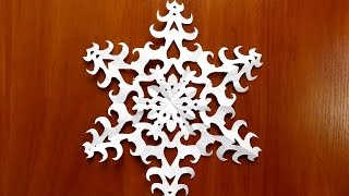 как сделать снежинку из бумаги своими руками поэтапно схема