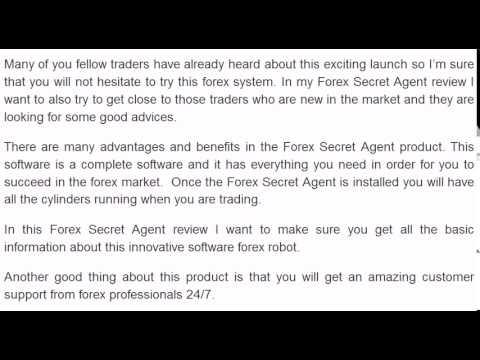 Forex Secret Agent Review