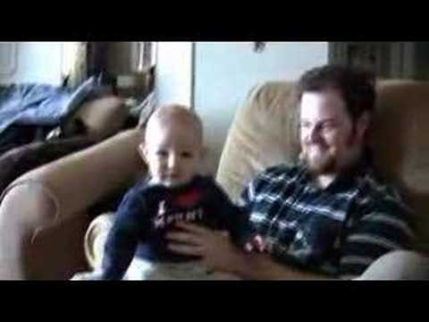 Baby Dances To Knight Rider Ringtone - YouTube