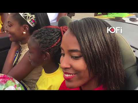 THE BEST EVER WELCOME OF A BEAUTY PAGEANT WINNER IN GHANA