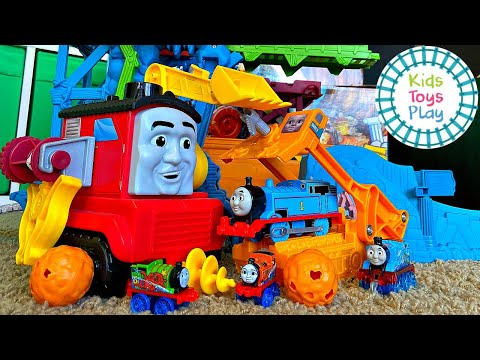 Thomas & Friends Super Cruiser and Cave Collapse | Our Longest Track Ever!