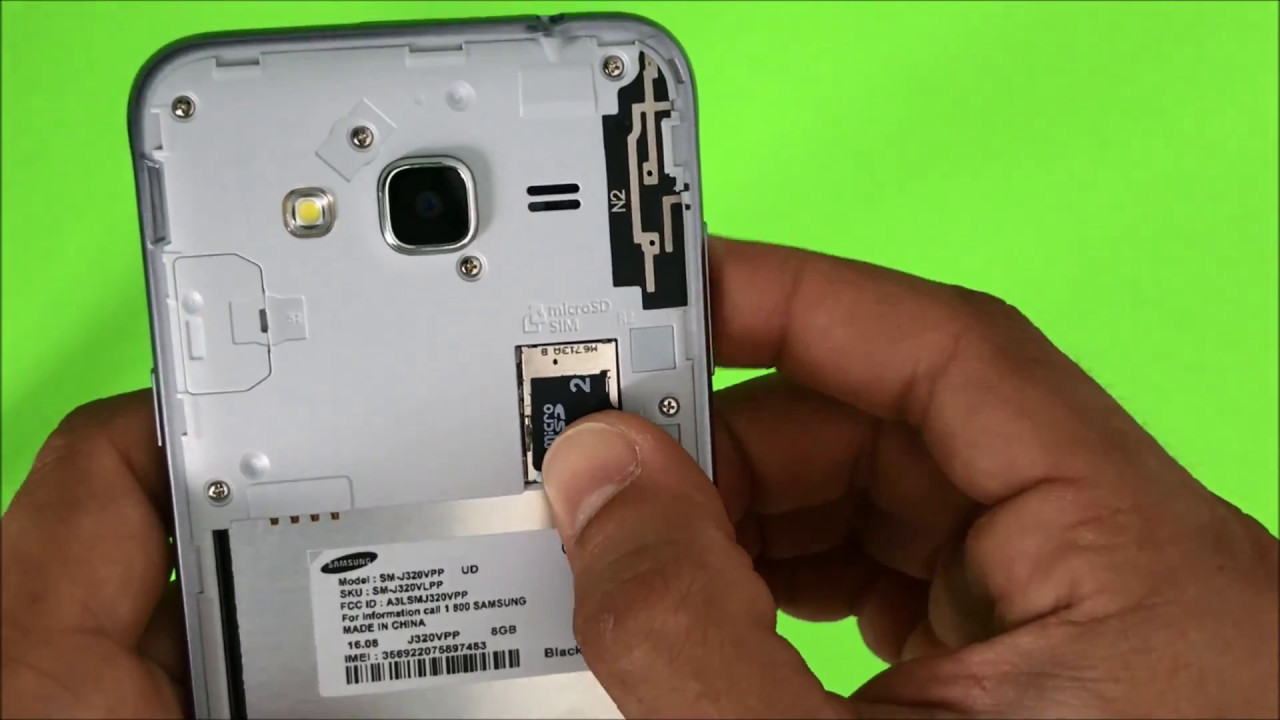 installer carte sd samsung j3 How to install SD and SIM card into Samsung Galaxy J3   YouTube