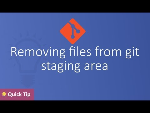 Removing files from git staging area  |  git reset