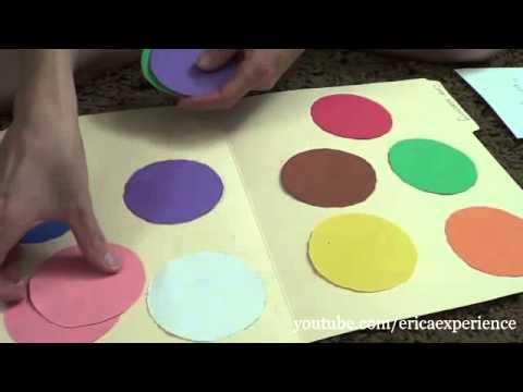 Kid's Educational Activity-file Folder Game Tutorial