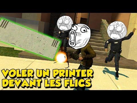 COMMENT VOLER UN PRINTER DEVANT LA POLICE ? - Garry's Mod RP (compilation)