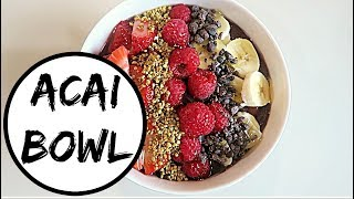HOW TO MAKE THE PERFECT ACAI BOWL   EASY + HEALTHY BREAKFAST IDEAS   HUBBY & KID - APPROVED! 👶🏽👶🏾