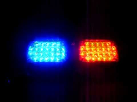 Police Fire Emergency Warning 48 LED Visor Deck Dash Red Blue Light  LightBar   YouTube Pictures Gallery
