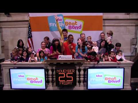 25 November 2011 The Fresh Beat Band rings the NYSE Opening Bell