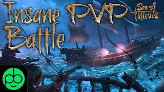 SEA OF THIEVES SUPER INSANE PVP SHIP BATTLE