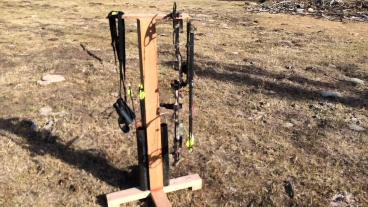 Building an Archery Bow Hanger & Arrow Stand - YouTube