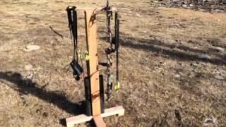 building an archery bow hanger arrow stand