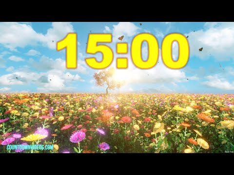 15 Minute Colorful Spring Timer ?? Relaxing Summer Music ♫ ♬