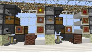 minecraft skyblock: iron farm, big gold farm,cactus farm,villagers,shop, mob spawner,and more