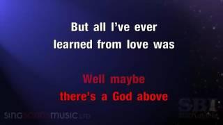 hallelujah Key of C instrumental alexandra burke karaoke