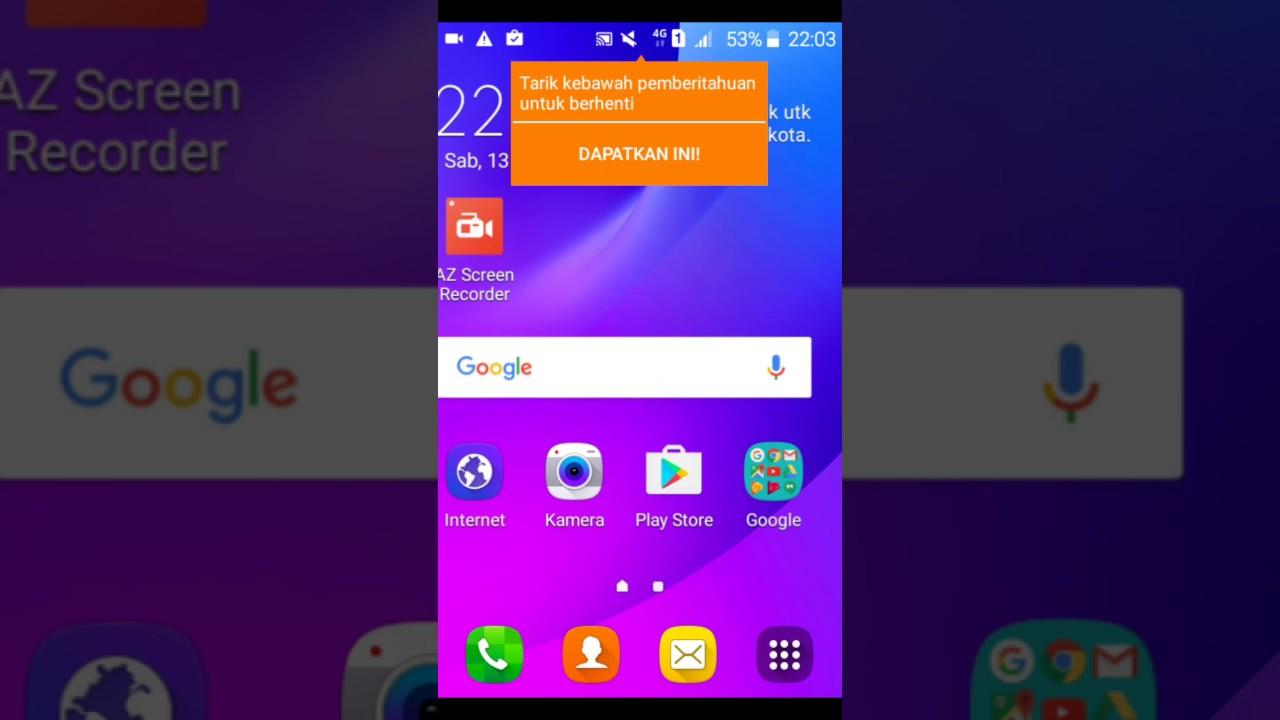 Screen Recorder Samsung Galaxy J1 Mini Terbaru