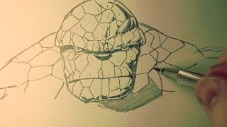 ANYONE CAN DRAW BEN GRIMM AKA THE THING!  I'll show you how!