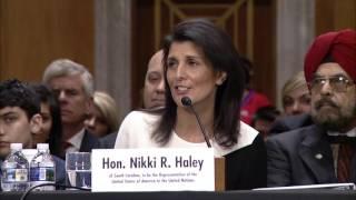 Senator Chris Murphy Questions Gov. Nikki Haley, Nominee for U.N. Ambassador