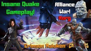 GodTier Quake Gameplay! Korg! AW Fights! Crimson Kaioken! - Marvel Contest of Champions
