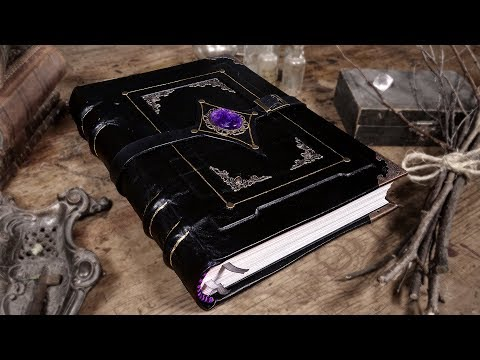 Binding a MYSTICAL Handmade GRIMOIRE / Book of Shadows!