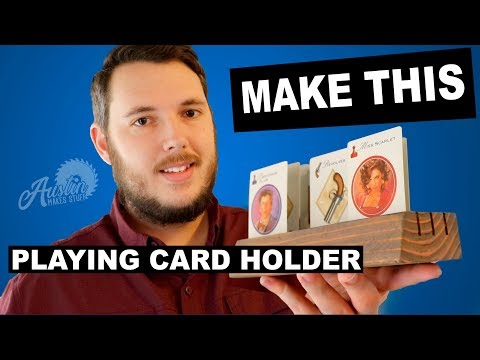 How to make a DIY Playing Card Holder - For Card Games or Board Games
