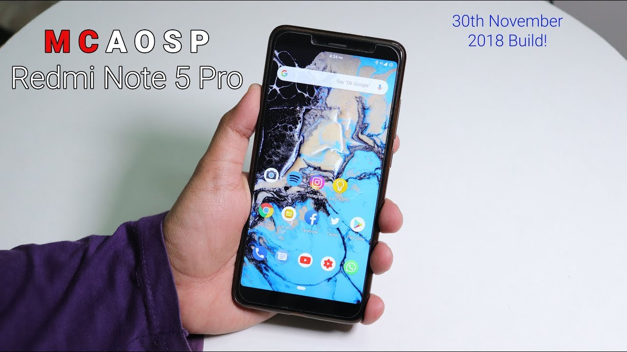 MCAosp Pie on Redmi Note 5 Pro || 30/11/2018 Build