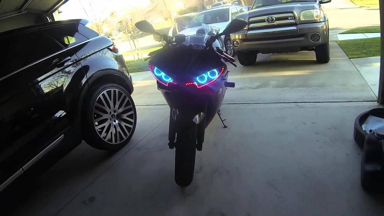 03 R6 Color Changing Angel Halo Eyes W Remote Audi Led