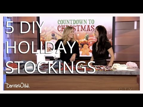 How To Make Easy Christmas Stockings Morning Live