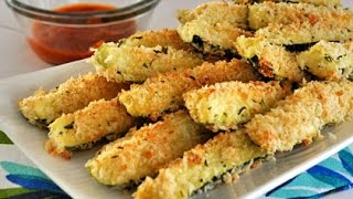 Low Fat Vegan No Oil Baked Zucchini Sticks