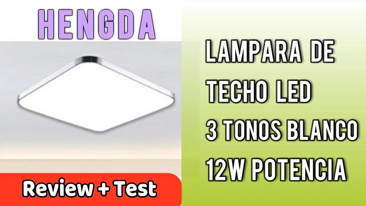 Techo en Iluminación Moderno Hengda Review De LED Español 12W Plafón Lámpara RegulableUnBoxing cRS4jLA35q