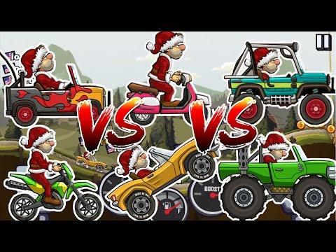 Hill Climb Racing 2 Monster Truck VS SportsCar VS Motocross VS Super Jeep VS Scooter VS Jeep