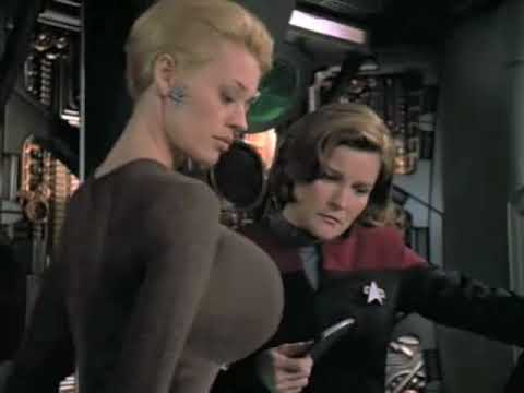 Jeri Ryan (Seven of Nine) Breast Expansion Morph in Star Trek video 7