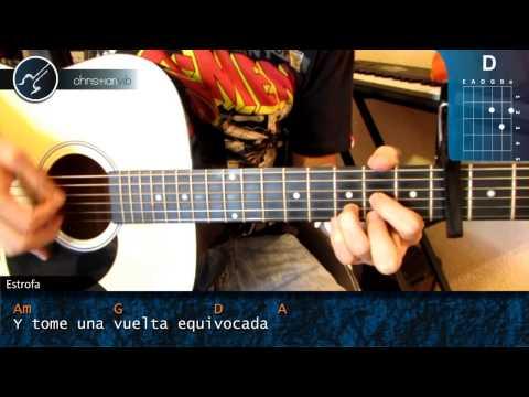 "Cómo tocar ""Llorar"" Jesse & Joy en Guitarra Acústica (HD) Tutorial - Christianvib"